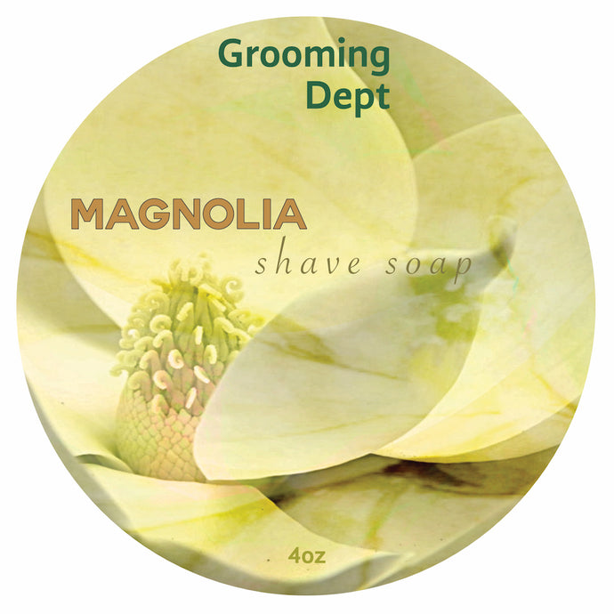 Grooming Dept Magnolia Vegan Shaving Soap