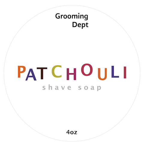 Grooming Dept Patchouli Vegan Shaving Soap