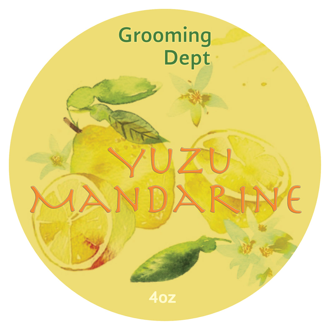 Grooming Dept Yuzu Mandarin - Tallow Shaving Soap