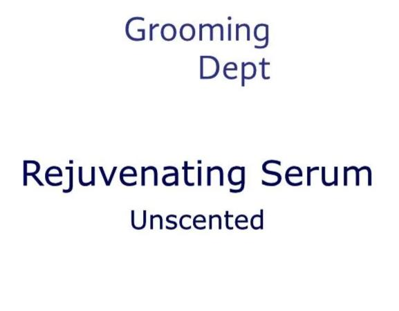Grooming Dept Rejuvenating Serum - Unscented