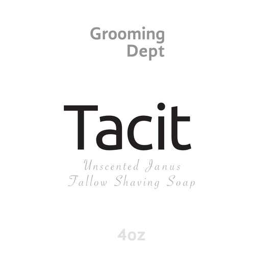 Grooming Dept - Tacit Janus Unscented Tallow Shaving Soap