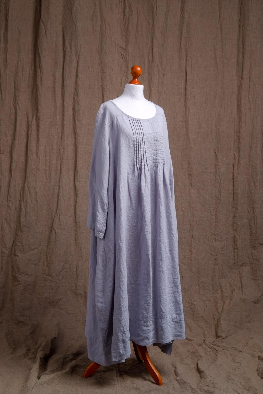 natural light blue linen tank dress, organic tank dress, linen clothing, short sleeve natural linen dress