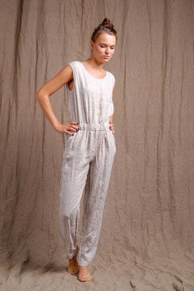 pure flax, organic and natural jumper, jumpsuit