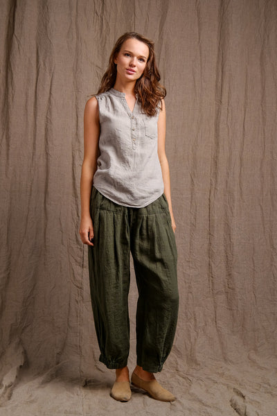 linen clothes,high quality flax,organic top and pants