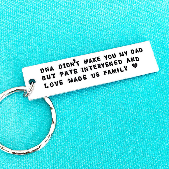 Step Father Gift For Father's Day - Stepdad Keychain from StepKids, DNA Keychain, Stepparent Keychain