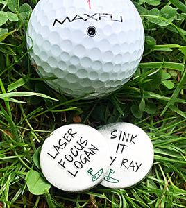 Hand Stamped Golf Tee Markers
