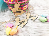 Easter Bunny Basket Name Tag - MDF Wood