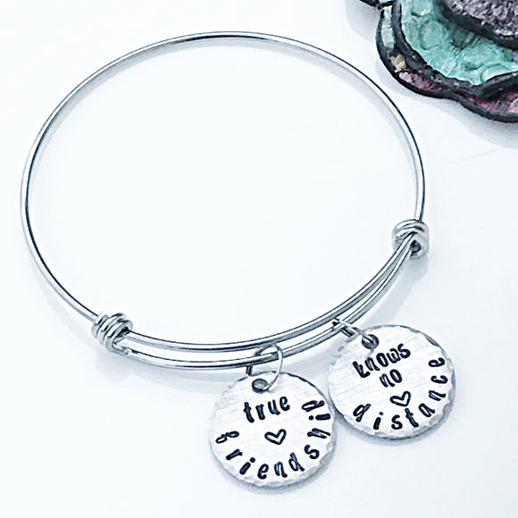 Long Distance Friendship Charm Bracelet-Long Distance Bracelet-Best Friends Charm Bracelet-Best Friend Gift-Friend Moving Away
