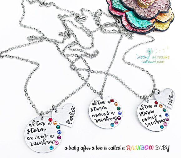 Rainbow Baby Necklace Miscarriage Baby Loss Gift for Mother