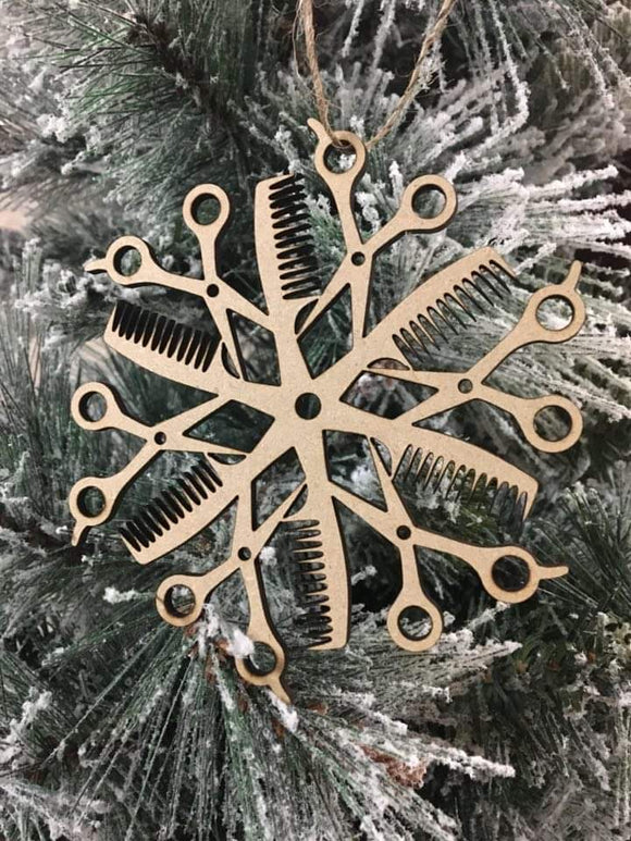 Wholesale | 1 Piece | CutFlake - Hair Dresser Ornament in Wood