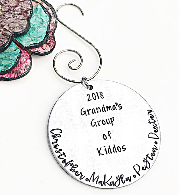 Grandma Christmas Ornament - Personalized Grandchildren Names - Gifts for Grammy - Lasting Impressions CT