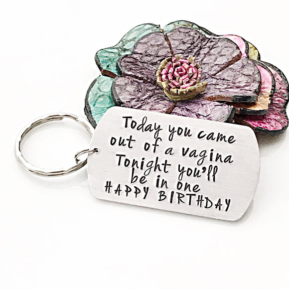 Mature, Birthday Gift for Husband, Funny Husband Gift, Funny Birthday Gift for Boyfriend, Custom Keychain - Lasting Impressions CT