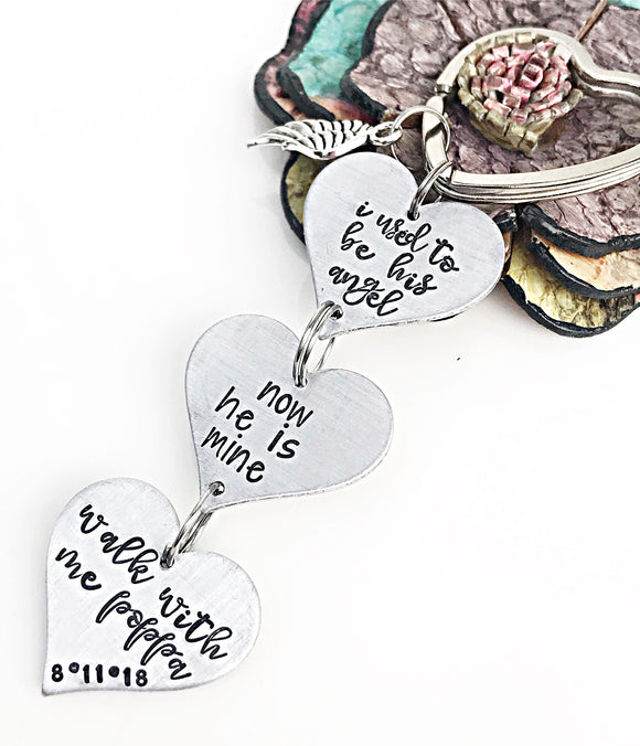 Wedding Bouquet Memorial Charm, Rear View Mirror Charm, Memorial Keychain