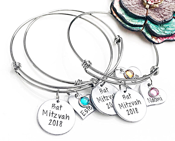 Bat Mitzvah Bracelet for Girls - Custom Jewelry - Personalized Gifts - Jewish Gifts Jewelry - Lasting Impressions CT