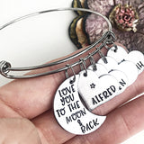 I Love You To The Moon and Back Charm Bracelet - Lasting Impressions CT