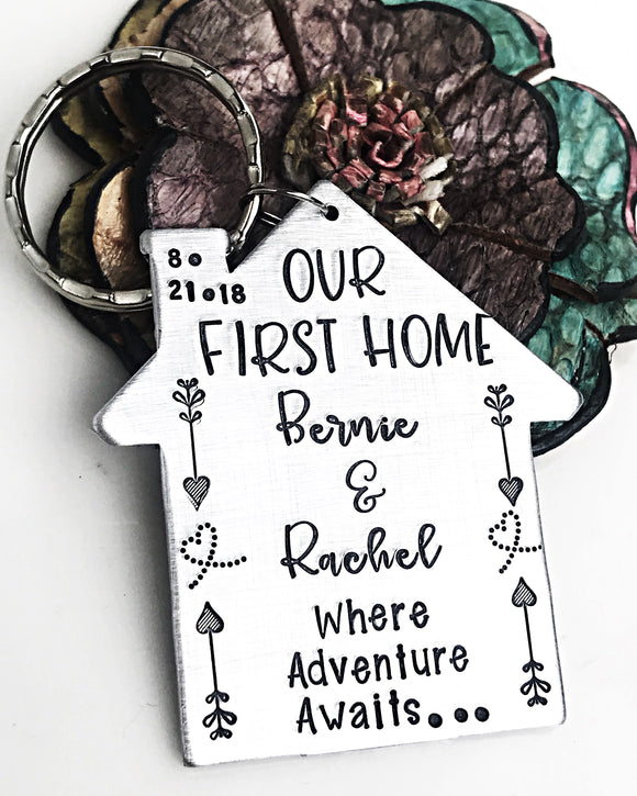 Our First Home Housewarming Gift Keychain or Ornament - Lasting Impressions CT
