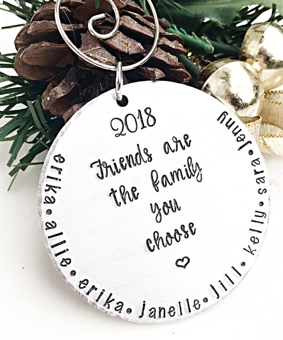 Personalized Hand Stamped Best Friend Christmas Ornament - Lasting Impressions CT