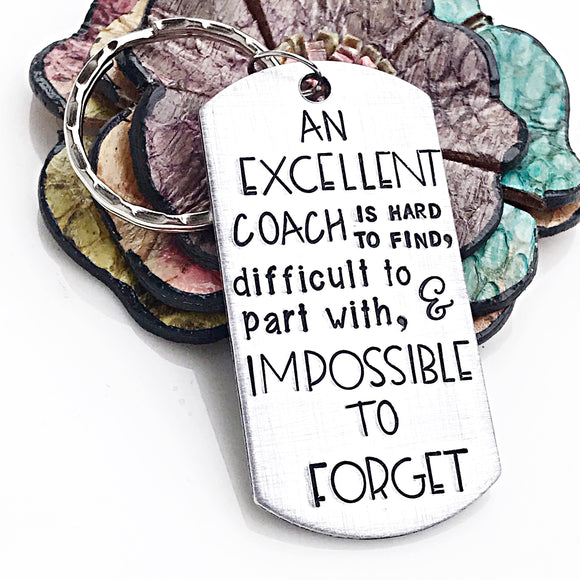 Coach Keychain - Coach Gifts - Soccer, Football, Baseball, Karate, Jujitsu, Tennis, Swimming, Sports - Lasting Impressions CT