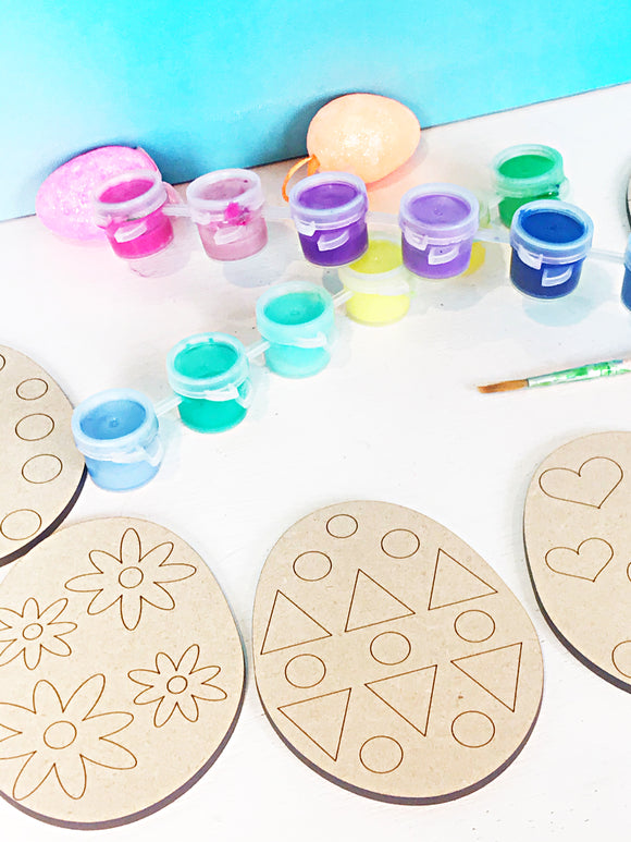 Paint Your Own Easter Egg Set - 6 Eggs - Wood Easter Egg