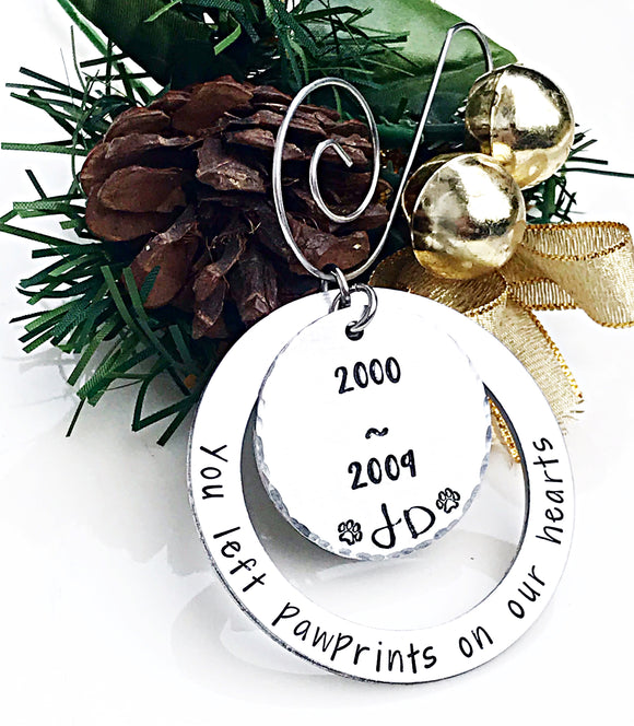 Pet Memorial Christmas Ornament, Dog Memorial Gift, In Memory of, Pet Ornament