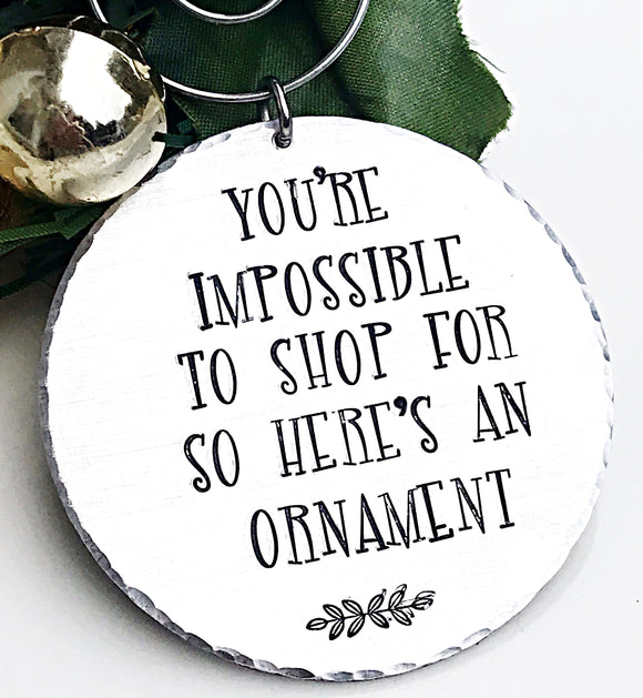 Hard to Shop For, Ornament, Friend Gift, Friend Ornament, White Elephant Gift