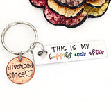 This is My Happily Ever After Custom Hand Stamped Penny Keychain Divorce Gifts for Her - Lasting Impressions CT