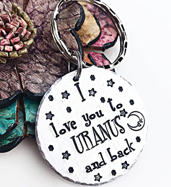 I Love You To Uranus and Back Funny Handstamped Valentine's Day Gifts for Men
