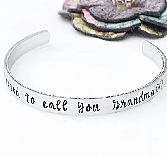 Grandma Gift, Blessed Bracelet, Personalized Grandmother Bracelet, Blessed to call you Grandma - Lasting Impressions CT