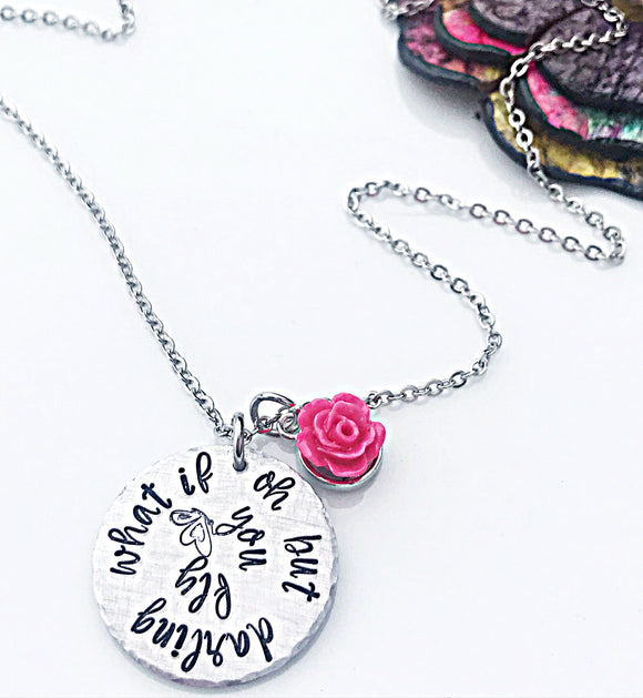 Oh But Darling What If You Fly Necklace, Famous Quotes, Graduation Jewelry, Graduation Necklace, Little Girls Necklace