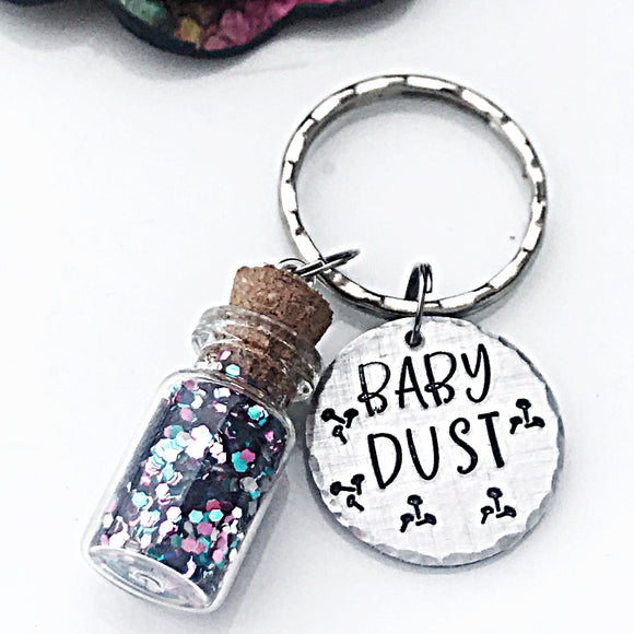 Baby Dust Keychain, Infertility Gifts, Infertility Keychain, IVF, IUI, Baby Dust - Lasting Impressions CT