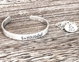 beYOUtiful Hand Stamped Custom Empowerment Cuff Bracelet or Necklace - Lasting Impressions CT