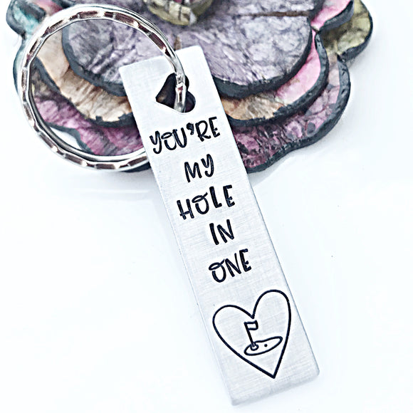 Valentine's Day Gift for Golfer, Golf Husband, Golf Dad, Love Keychain, Hole in One - Lasting Impressions CT