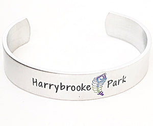Harrybrooke Park Peacock Silver Aluminum Hand Stamped Cuff Bracelet Fundraiser - Lasting Impressions CT