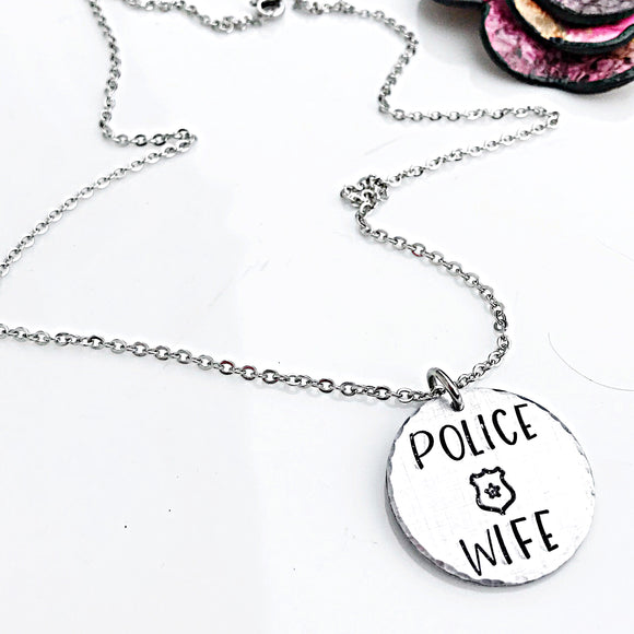 Police Wife Necklace, Police Jewelry, Police Wife, Jewelry for Wife - Lasting Impressions CT