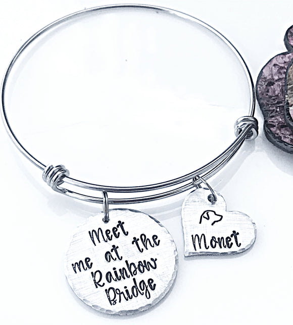 Rainbow Bridge Bracelet, Dog Memorial Bracelet, Gifts for Pet Loss, Dog Loss Bracelet, Pet Sympathy Gifts, Dog Loss Jewelry - Lasting Impressions CT