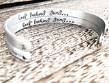 Keep Fucking Going Bracelet - Silver Cuff Bracelet - True Crime Gift - Motivational Cuff Bracelet - Lasting Impressions CT