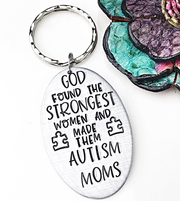 Autism Mom Keychain, Autism Gift, Autism Mom Gift, Mother's Day Keychain - Lasting Impressions CT