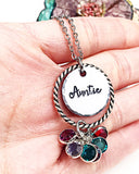 Aunt Necklace, Aunt Gift, Gift for Aunt, Aunt Birthstone Necklace, Auntie Necklace, Personalized Aunt Gift Ideas, Mother's Day Gift Aunt - Lasting Impressions CT