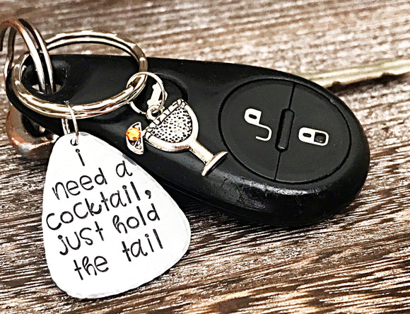 Bachelorette Party Gift for Bride to Be - Funny Cocktails Accessory Keychain - Custom and Persoalized - Lasting Impressions CT
