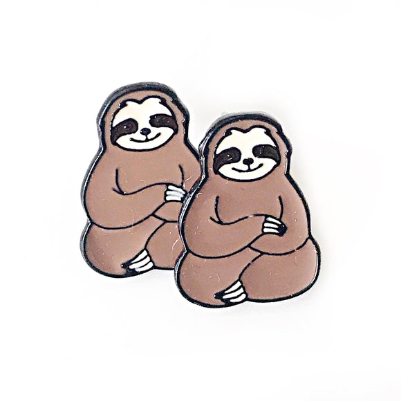 Sloth Enamel Earrings Sloth Jewelry Sloth Gifts Animals Sloth Lover
