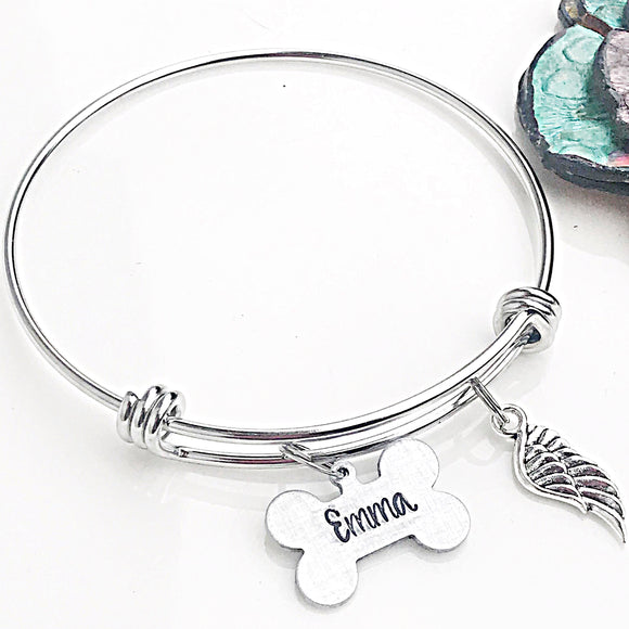 Dog Memorial Bracelet, Gifts for Pet Loss, Dog Loss Bracelet, Pet Sympathy Gifts, Dog Loss Jewelry - Lasting Impressions CT