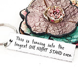 Funny Gifts for Boyfriend, Valentine's Day Husband Keychain, One Night Stand Keychain - Lasting Impressions CT