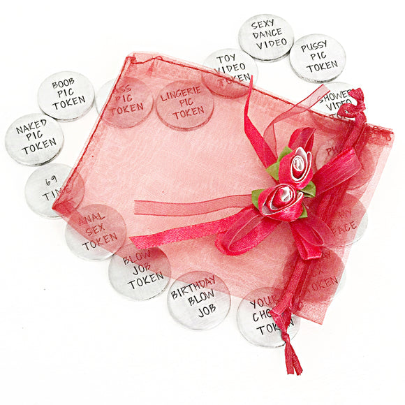 Sexy Love Tokens - Valentine's Day Gifts for Him or Her, Husband Gifts - Sex Tokens - Create Your Own - Lasting Impressions CT