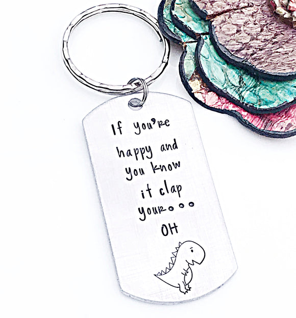 Funny Gifts For Friends And Family Dinosaur Keychain - Lasting Impressions CT