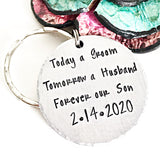 Mother Son Keychain Wedding Day Gift For Son Gift For Men - Lasting Impressions CT