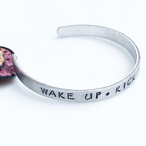 Wake Up Kick Ass Repeat Hand Stamped Cuff Bracelet - Lasting Impressions CT