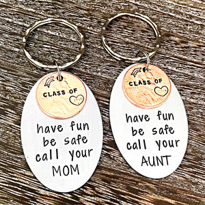 Class of 2019 Penny Personalized custom Graduation Keychain - Lasting Impressions CT