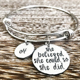 Graduation Bracelet for Daughter, Class of 2018, Graduation Gifts, Graduation Jewelry
