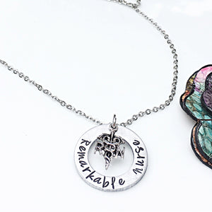 Personalized Gift for RN Nurse Graduation Necklace - Lasting Impressions CT