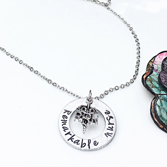 Personalized Gift for RN Nurse Graduation Necklace